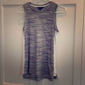 Banana Republic gray and white sleeveless top